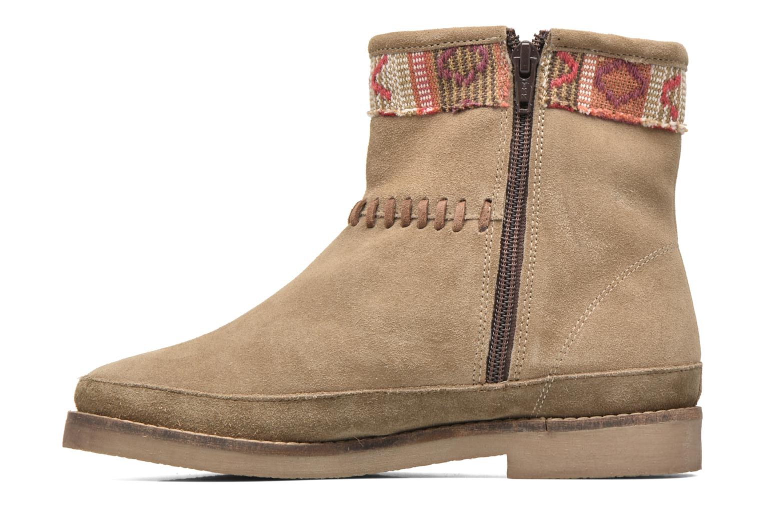 Ankle boots Coolway Babette Beige front view