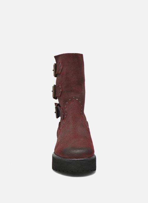 Stivaletti e tronchetti Coolway Baboon Rosso modello indossato