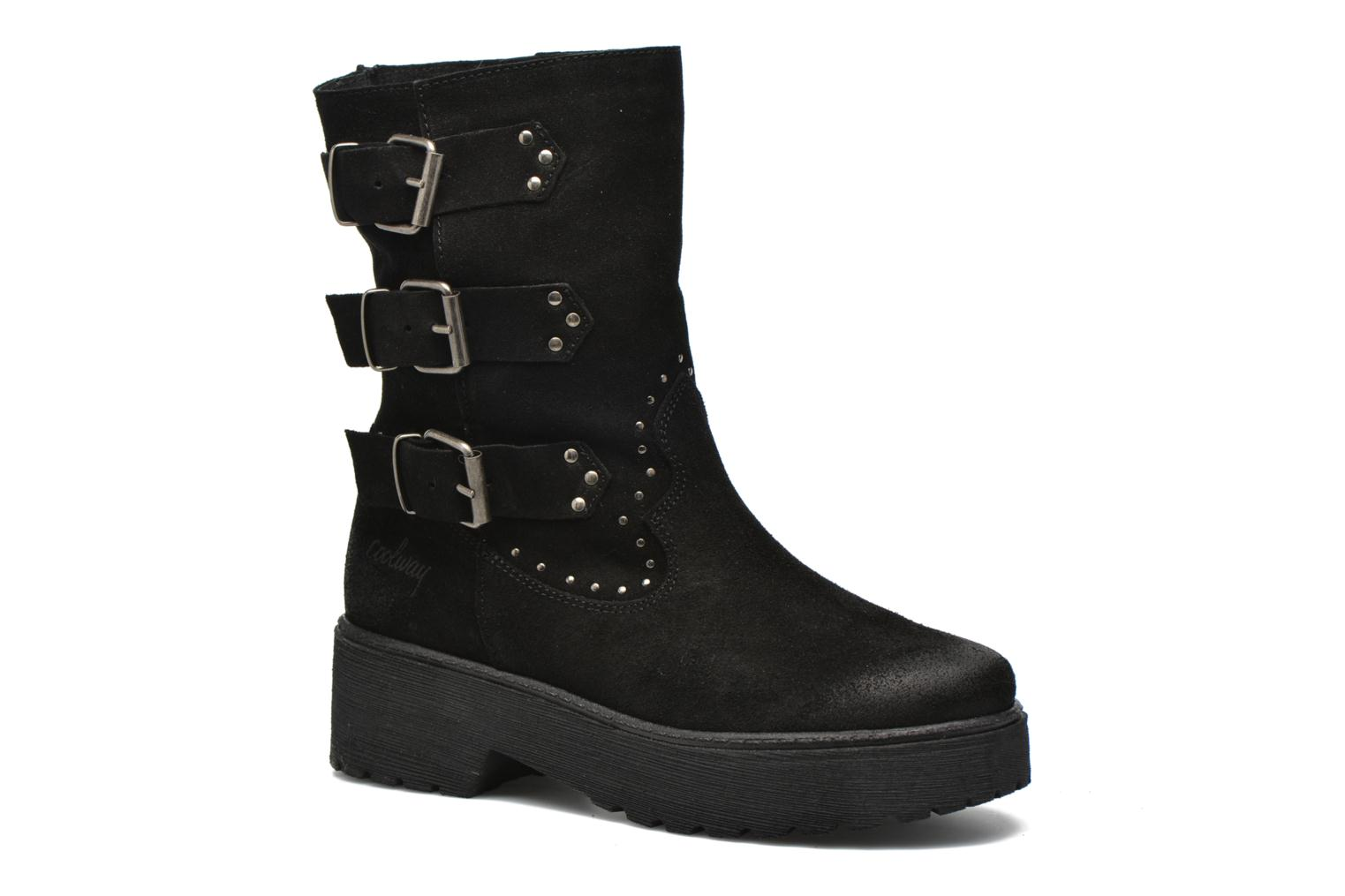 Ankle boots Coolway Baboon Black detailed view/ Pair view