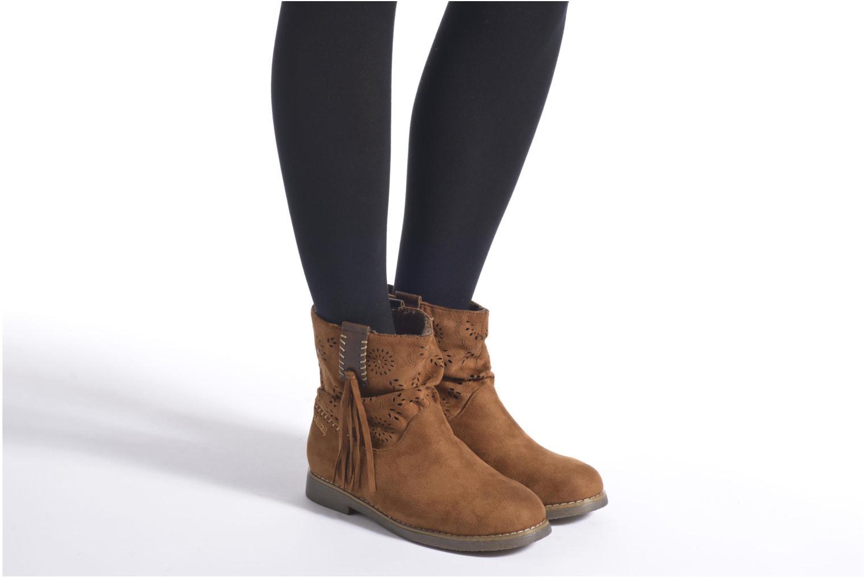 Bottines et boots Coolway Baili Noir vue bas / vue portée sac