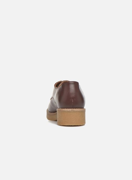 Zapatos con cordones Georgia Rose Lucreppy Vino vista lateral derecha
