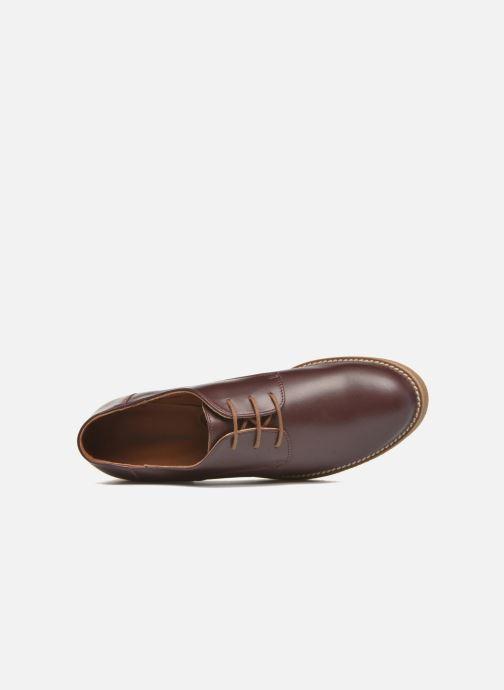 Zapatos con cordones Georgia Rose Lucreppy Vino vista lateral izquierda