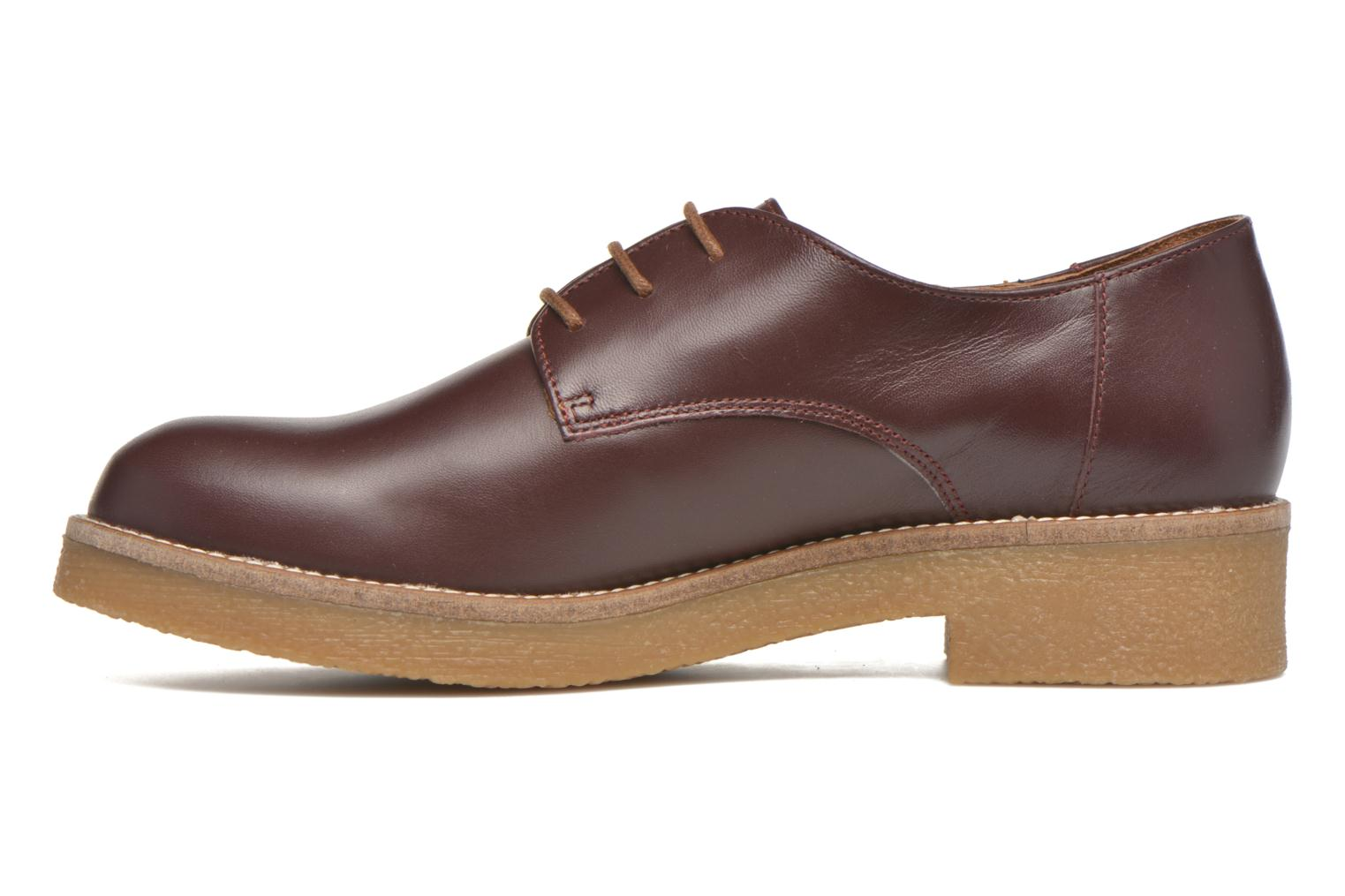Lace-up shoes Georgia Rose Lucreppy Burgundy front view