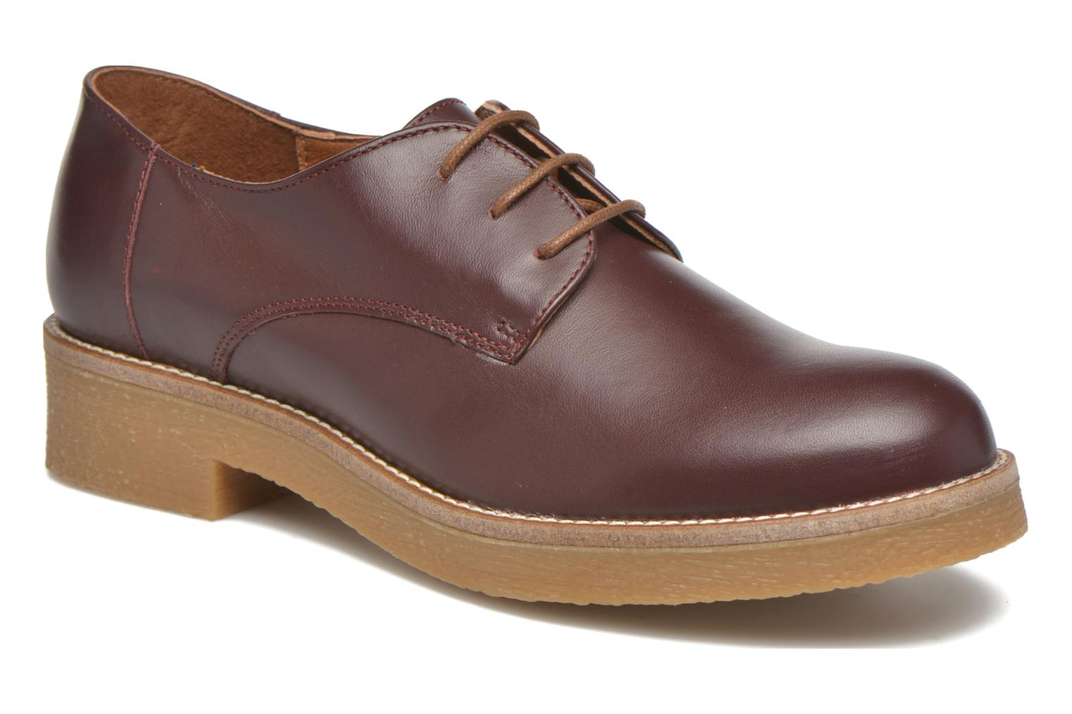 Lace-up shoes Georgia Rose Lucreppy Burgundy detailed view/ Pair view