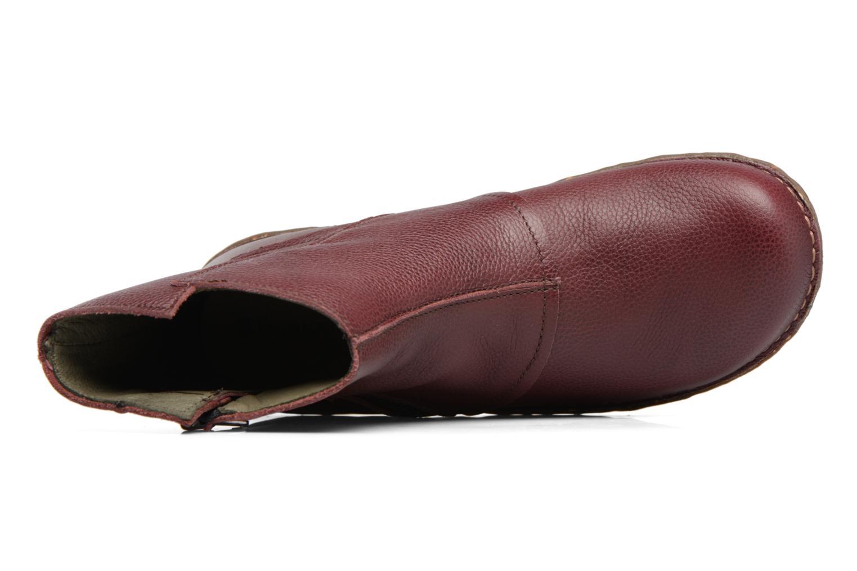 Bottines et boots El Naturalista Yggdrasil NE28 Bordeaux vue gauche