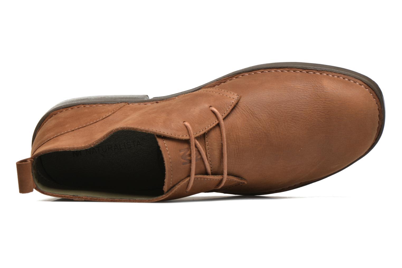 Zapatos con cordones El Naturalista Yugen NG21 Marrón vista lateral izquierda