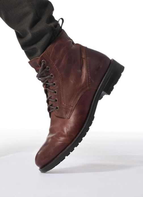 Ankle boots Marvin&co Ansi Brown view from underneath / model view