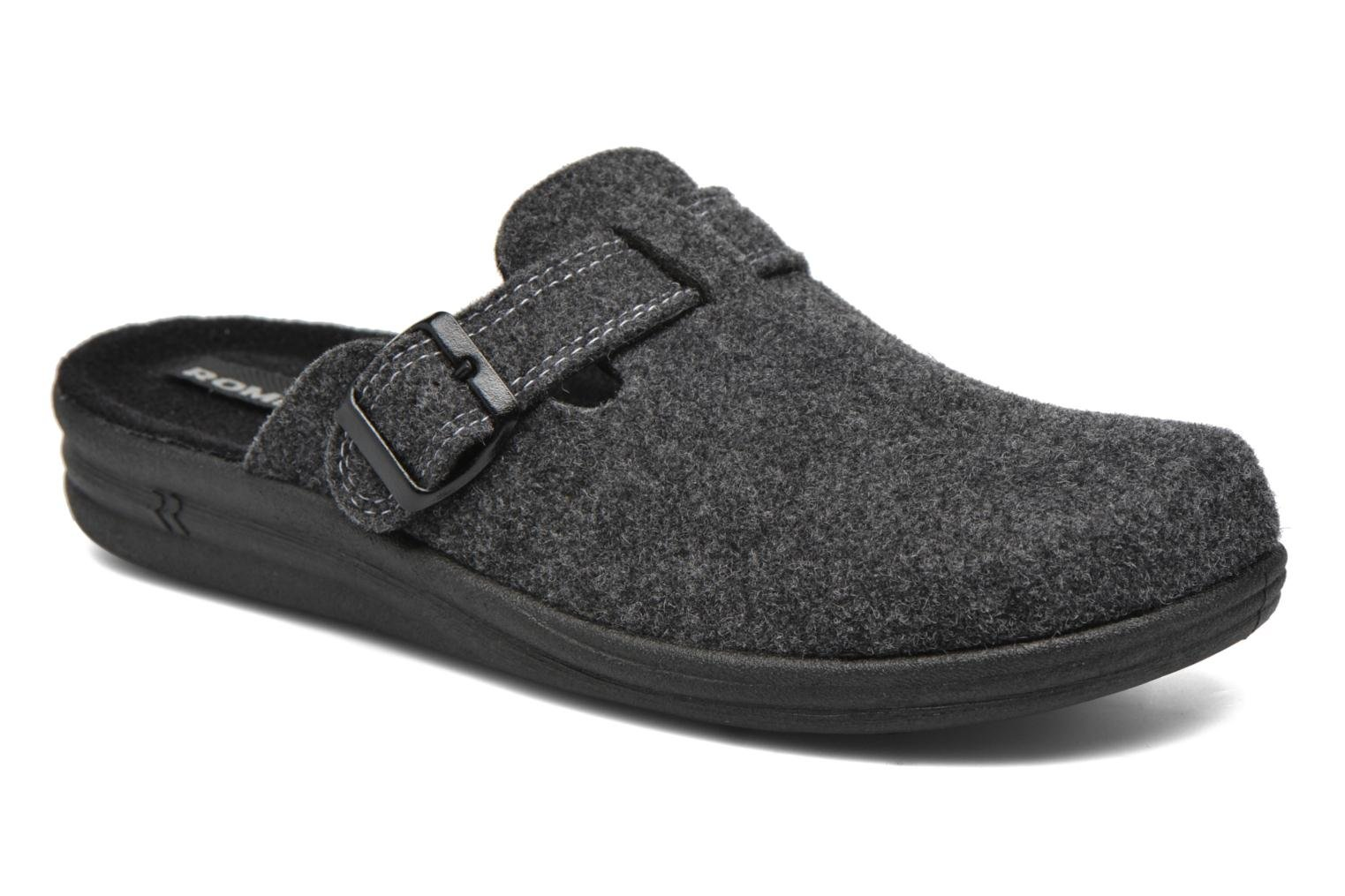 Slippers Romika Village 240 Grey detailed view/ Pair view