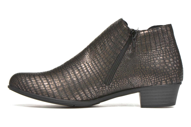 Bottines et boots Remonte Miryam D3570 Or et bronze vue face