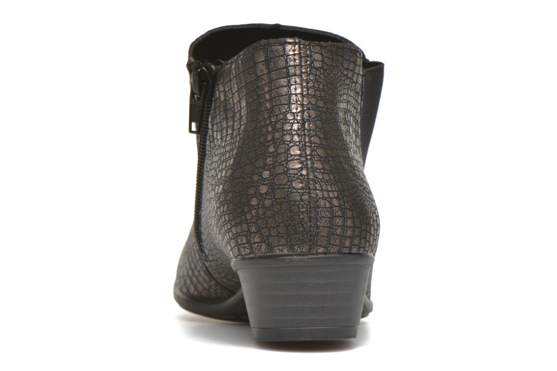 Bottines et boots Remonte Miryam D3570 Or et bronze vue droite