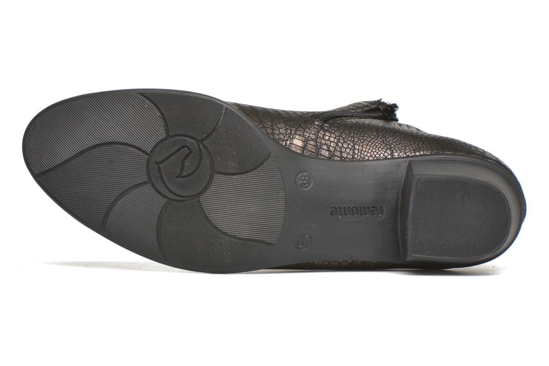 Bottines et boots Remonte Miryam D3570 Or et bronze vue haut
