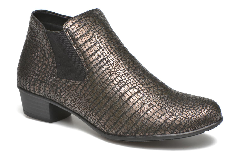 Bottines et boots Remonte Miryam D3570 Or et bronze vue détail/paire