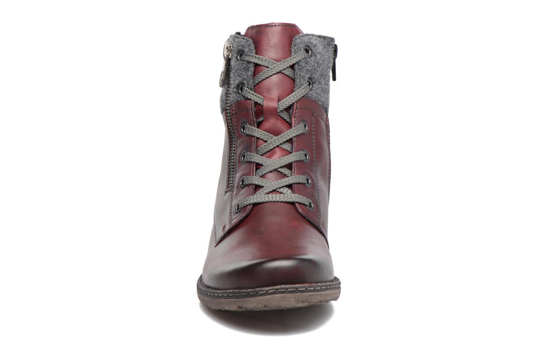 Bottines et boots Remonte Alexandra D4379 Rouge vue portées chaussures