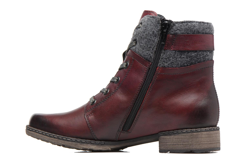 Bottines et boots Remonte Alexandra D4379 Rouge vue face