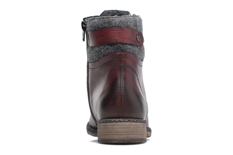 Bottines et boots Remonte Alexandra D4379 Rouge vue droite