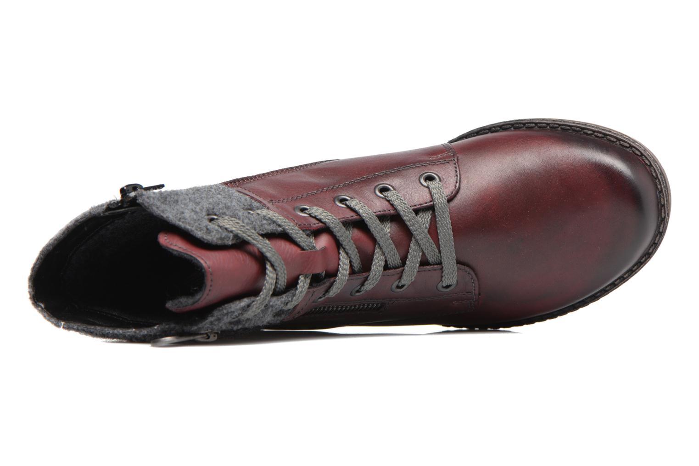 Bottines et boots Remonte Alexandra D4379 Rouge vue gauche