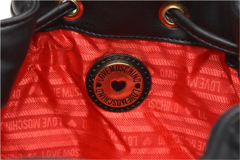 Sacs à main Love Moschino Sac seau matelassé Noir vue derrière