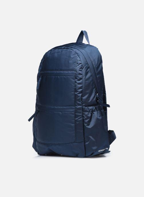 Rucksäcke Bensimon City Backpack blau schuhe getragen