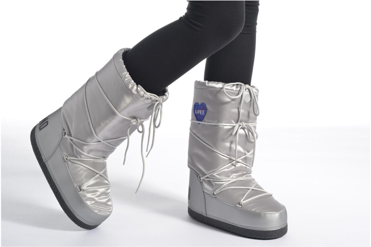 Boots & wellies Love Moschino Silversnow Silver view from underneath / model view