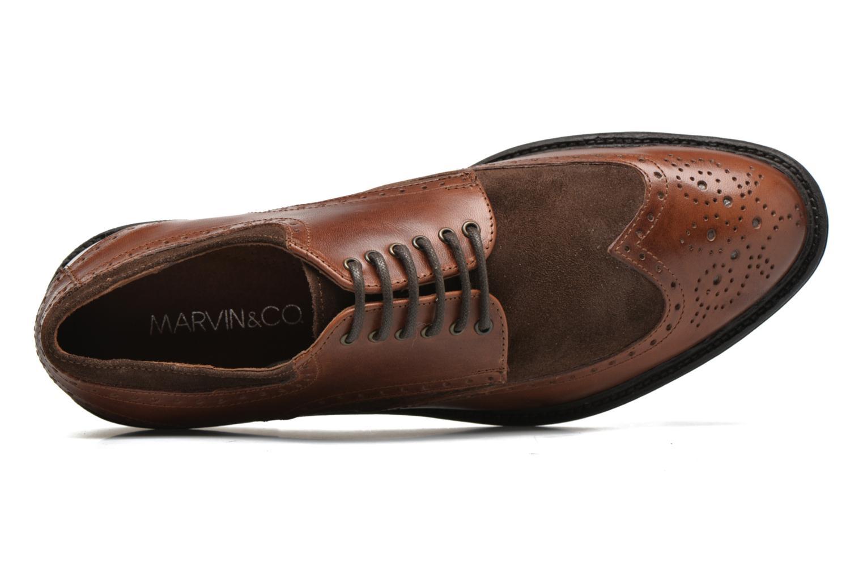 Chaussures à lacets Marvin&Co Tamworth Marron vue gauche