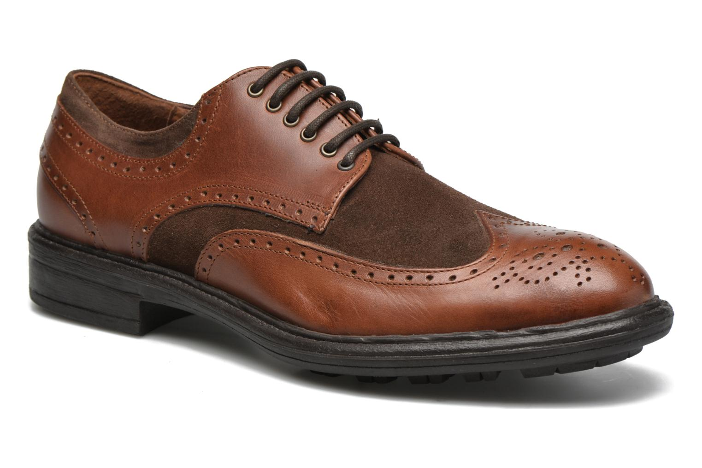 Chaussures à lacets Marvin&Co Tamworth Marron vue détail/paire