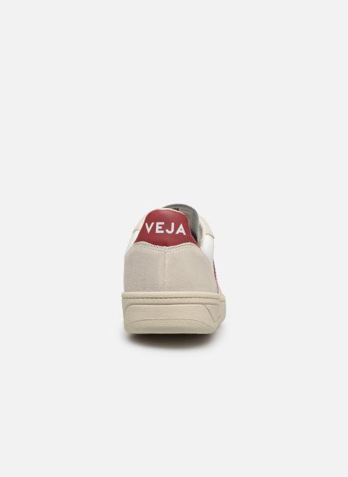 Baskets Veja V-10 W Blanc vue droite