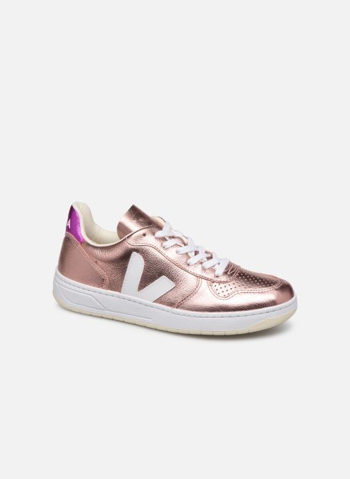 Trainers Veja V-10 Pink detailed view/ Pair view