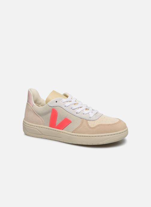 Baskets Veja V-10 W Blanc vue détail/paire