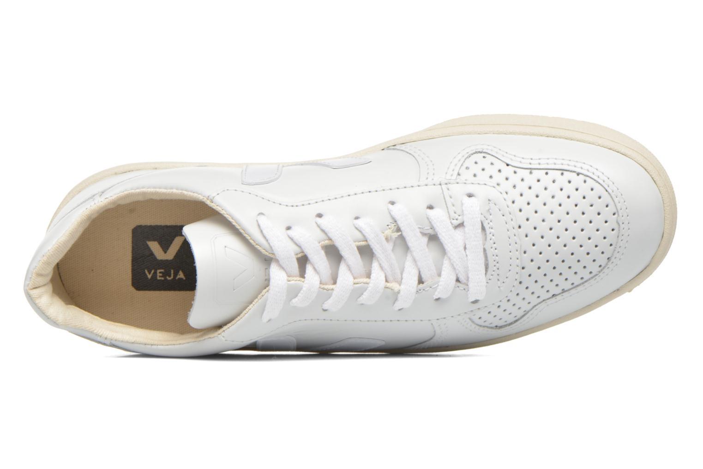 Baskets Veja V-10 W Blanc vue gauche