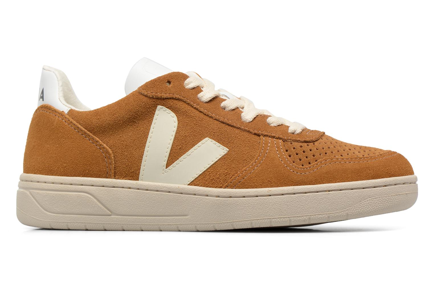 Trainers Veja V-10 W Brown back view