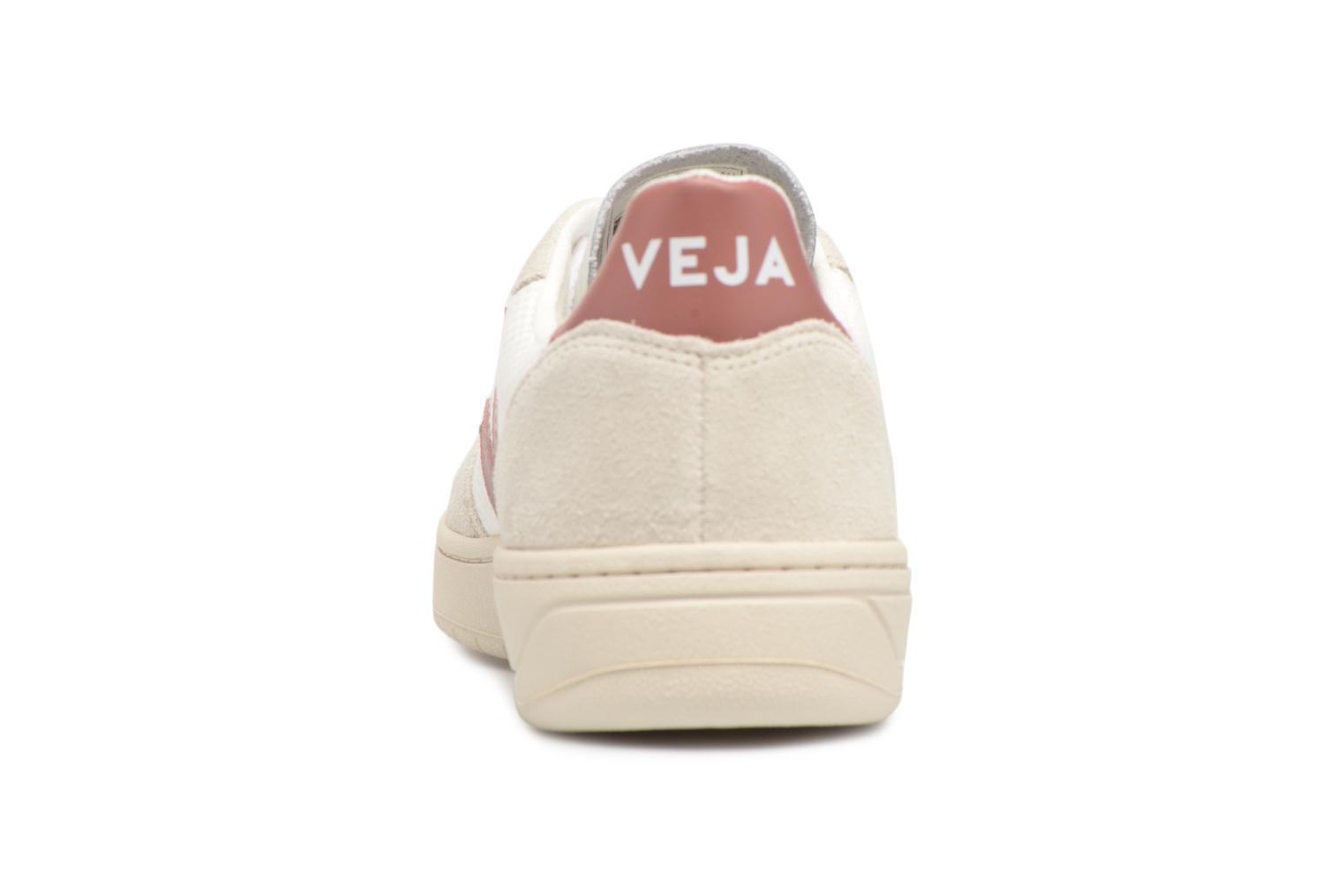 Trainers Veja V-10 W Pink view from the right