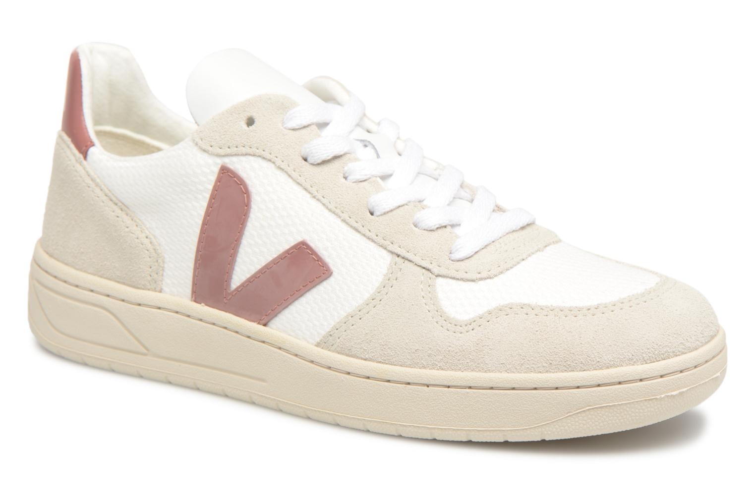 Trainers Veja V-10 W Pink detailed view/ Pair view
