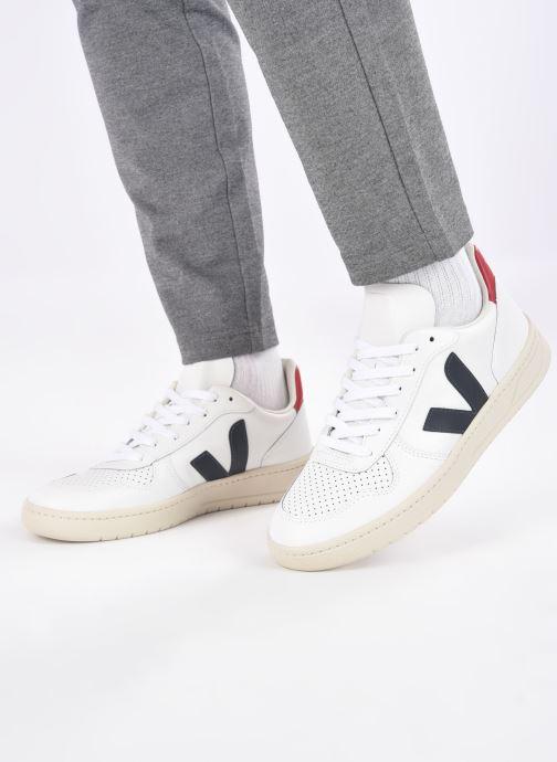 Baskets Veja V-10 Blanc vue bas / vue portée sac