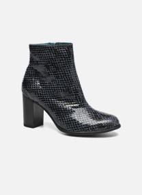 Boots en enkellaarsjes Dames GLAGOS #Cobra CARBONE ~Doubl & 1ere CUIR