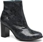 Ankle boots Women GLAGOS #Cobra CARBONE ~Doubl & 1ere CUIR