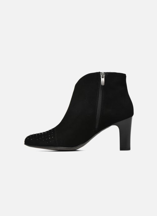 Ankle boots Karston IFLOU *Ch Velours NOIR ~Doubl & 1ere CUIR Black front view
