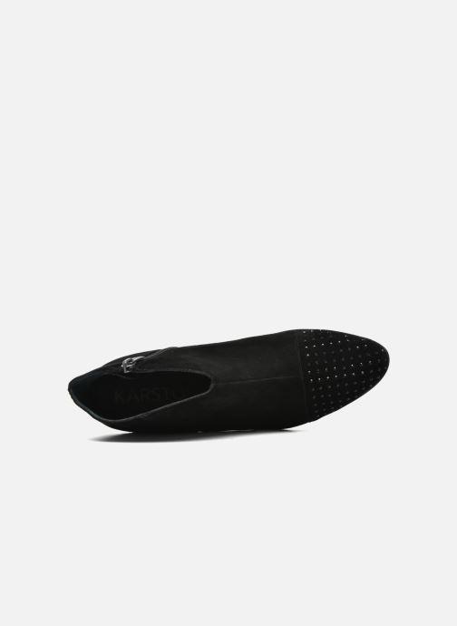 Bottines et boots Karston IFLOU *Ch Velours NOIR ~Doubl & 1ere CUIR Noir vue gauche