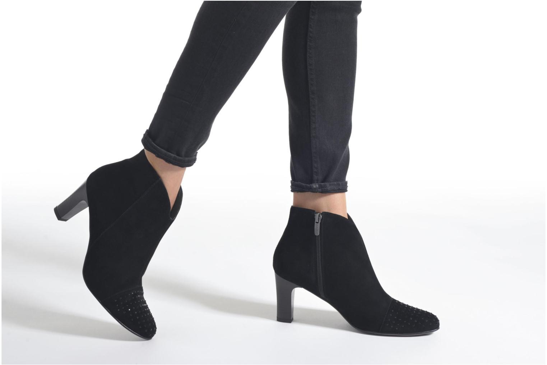 Bottines et boots Karston IFLOU *Ch Velours NOIR ~Doubl & 1ere CUIR Noir vue bas / vue portée sac