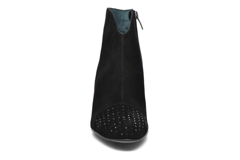 Bottines et boots Karston IFLOU *Ch Velours NOIR ~Doubl & 1ere CUIR Noir vue portées chaussures
