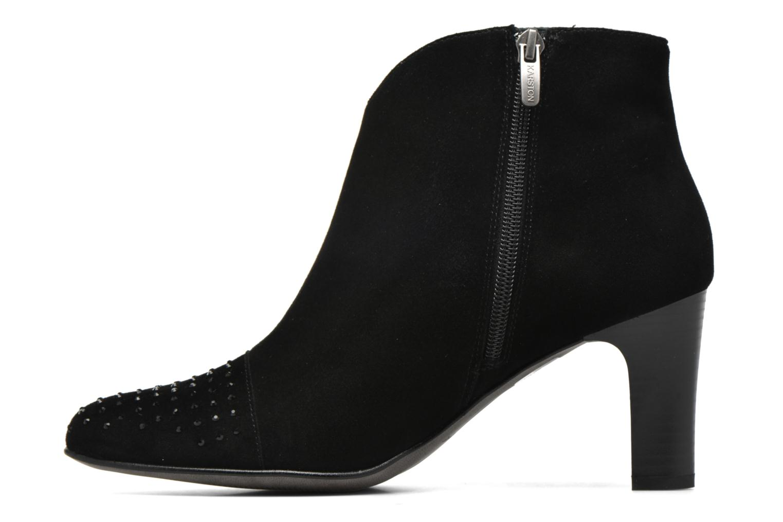 Bottines et boots Karston IFLOU *Ch Velours NOIR ~Doubl & 1ere CUIR Noir vue face