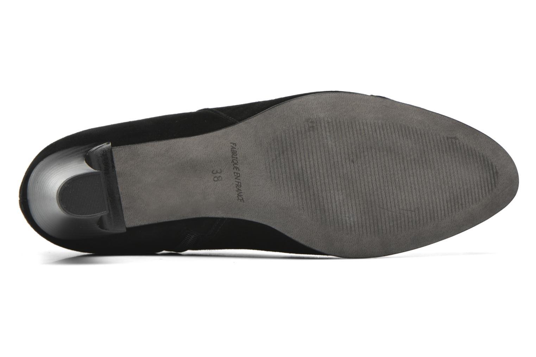Bottines et boots Karston IFLOU *Ch Velours NOIR ~Doubl & 1ere CUIR Noir vue haut