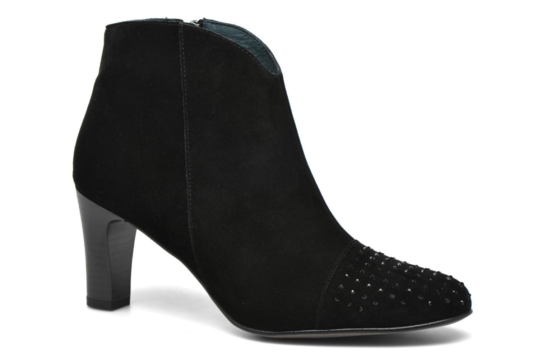 Bottines et boots Karston IFLOU *Ch Velours NOIR ~Doubl & 1ere CUIR Noir vue détail/paire