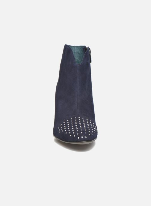 Ankle boots Karston IFLOU #Ch Velours OCEAN ~Doubl & 1ere CUIR Blue model view