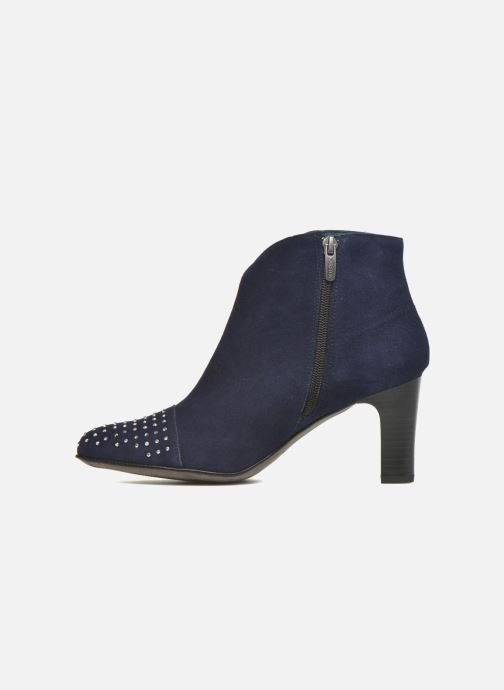Ankle boots Karston IFLOU #Ch Velours OCEAN ~Doubl & 1ere CUIR Blue front view