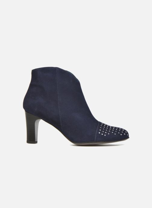 Ankle boots Karston IFLOU #Ch Velours OCEAN ~Doubl & 1ere CUIR Blue back view