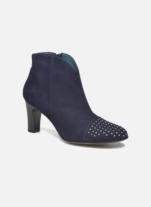 Ankle boots Karston IFLOU #Ch Velours OCEAN ~Doubl & 1ere CUIR Blue detailed view/ Pair view