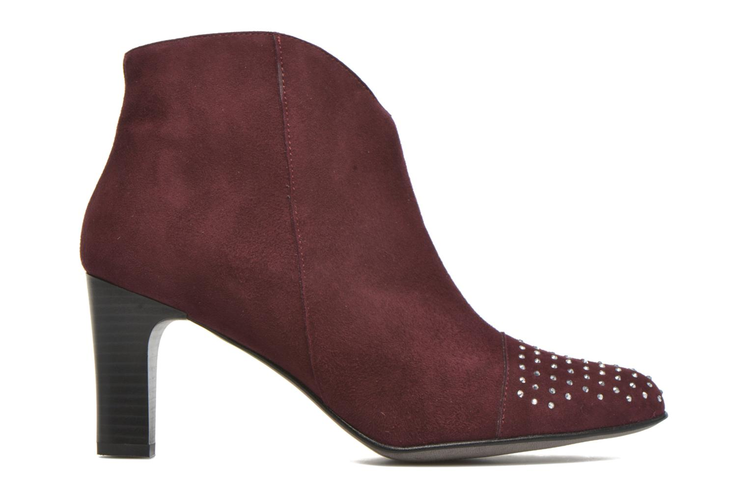 Ankle boots Karston IFLOU #Ch Velours PRUNE ~Doubl & 1ere CUIR Burgundy back view