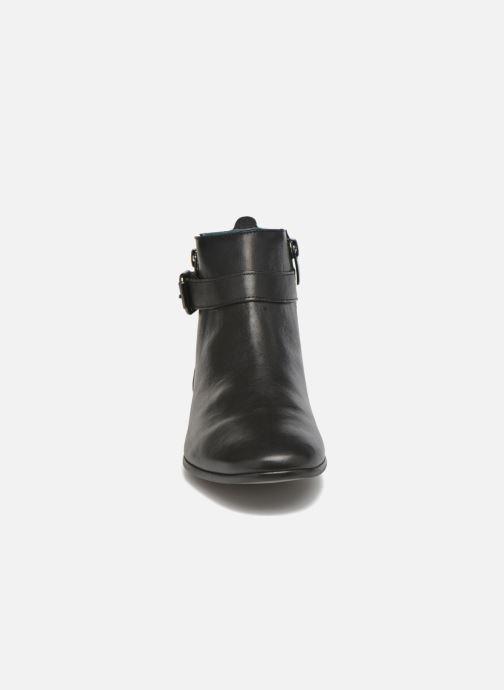 Ankelstøvler Karston JOYAU Vo NOIR/Mat.BRONZE ~Doubl & 1ere CUIR Sort se skoene på