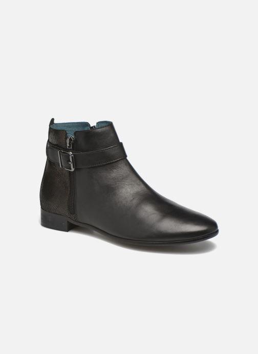 Ankelstøvler Karston JOYAU Vo NOIR/Mat.BRONZE ~Doubl & 1ere CUIR Sort detaljeret billede af skoene