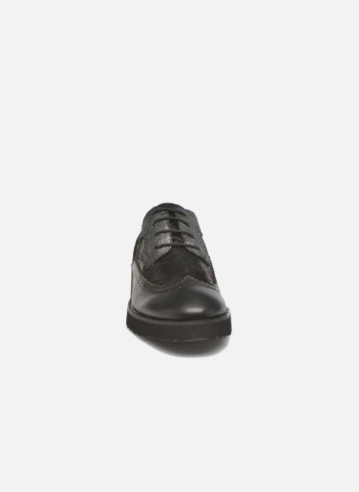 Chaussures à lacets Karston OLAGO *Mult Vo Milled NOIR ~Doubl & 1ere CUIR Noir vue portées chaussures